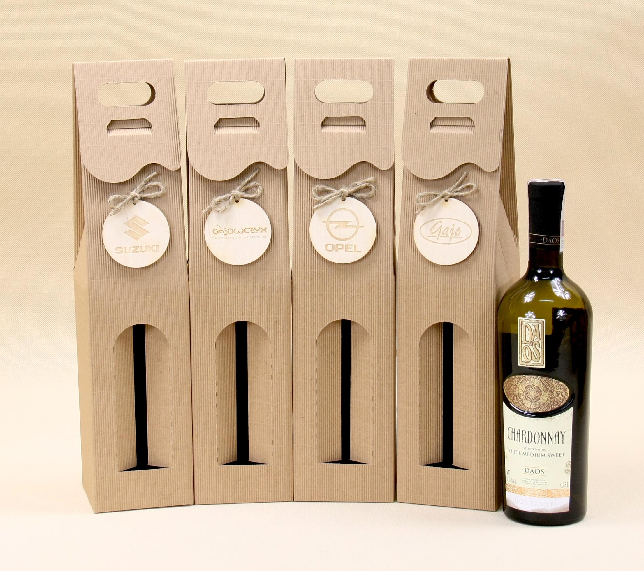 Pudełko na wino z logo
