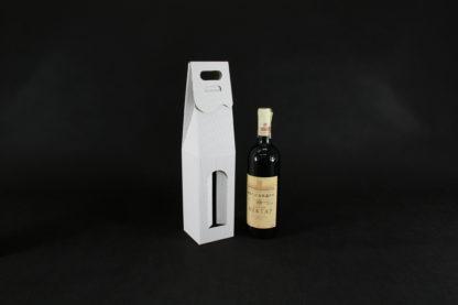 pudełko na wino z okienkiem białe