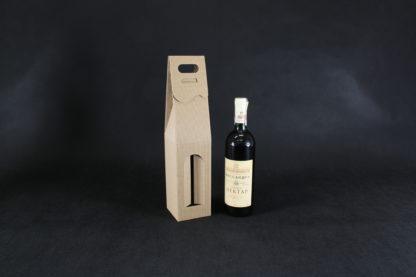 pudełko na wino z okienkiem szare