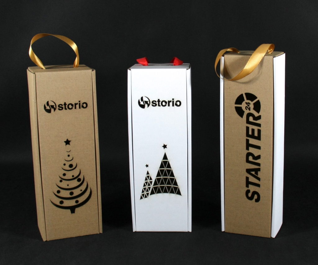 pudełko do wina z logo