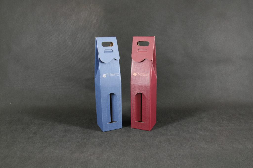 pudełko na wino kaszerowane kolorowe
