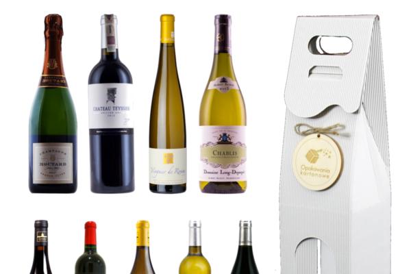 pudełko na wino z grawerem