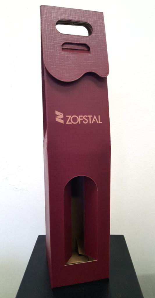 pudełko kolorowe na alkohol z logo