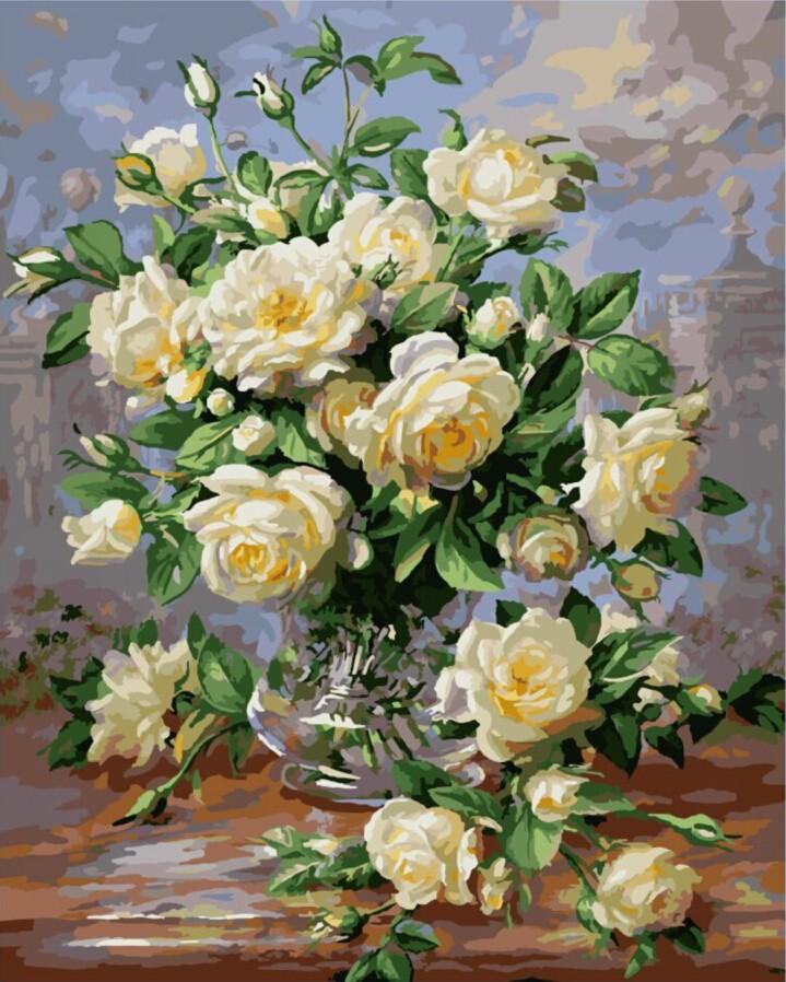 kwiaty malowane numerami