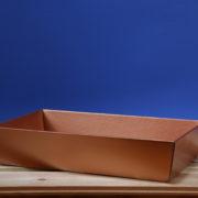 Koszyk 25x46 złoty-miedziany
