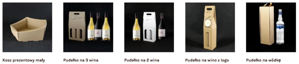 pudełka na wino zawieszam