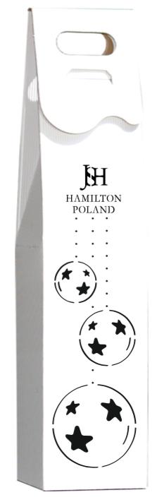 Wersja opakowania na akohol z logo - biała