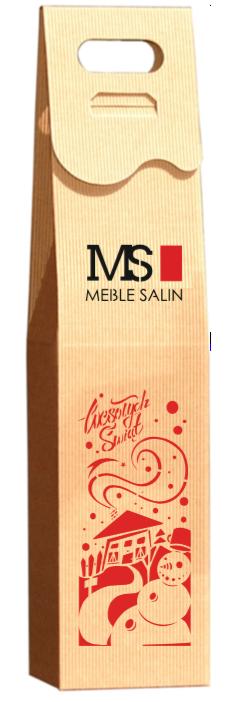 kolorowe logo na pudełku na wino