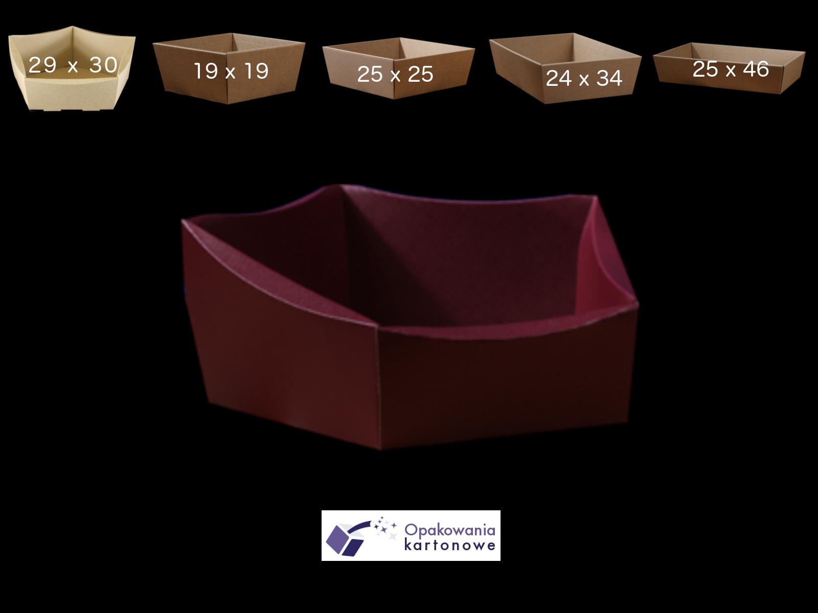 duży koszyk na prezenty kaszerowany
