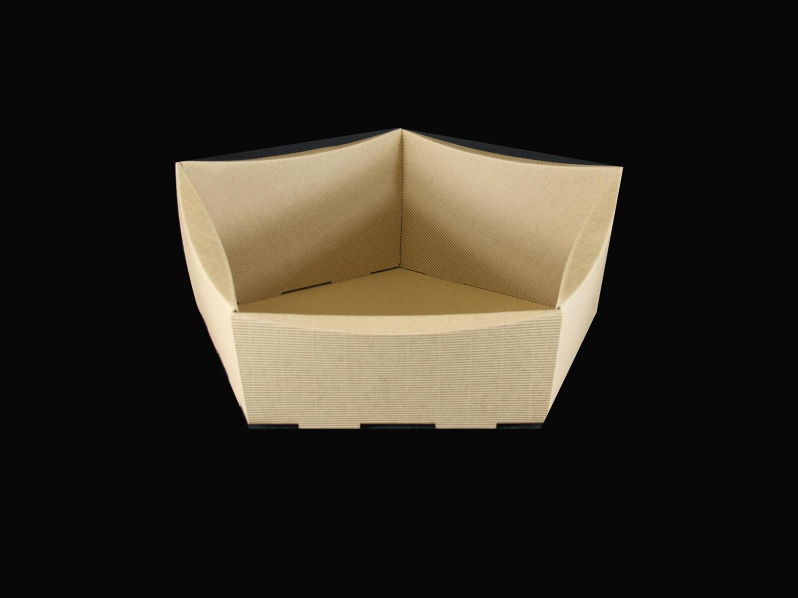 Pentagon Cardboard Gift Basket 29x30x8x13cm