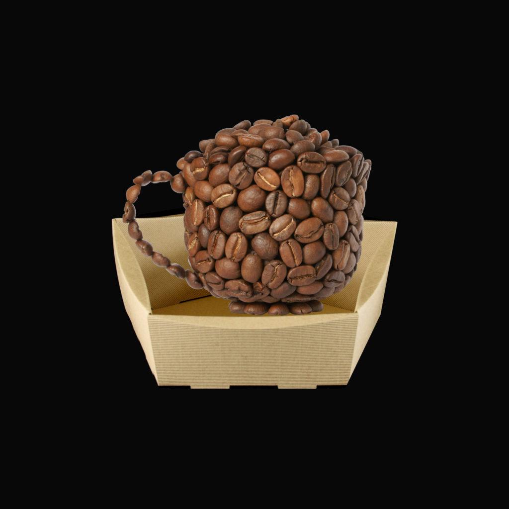 kosz prezentowy z kawą