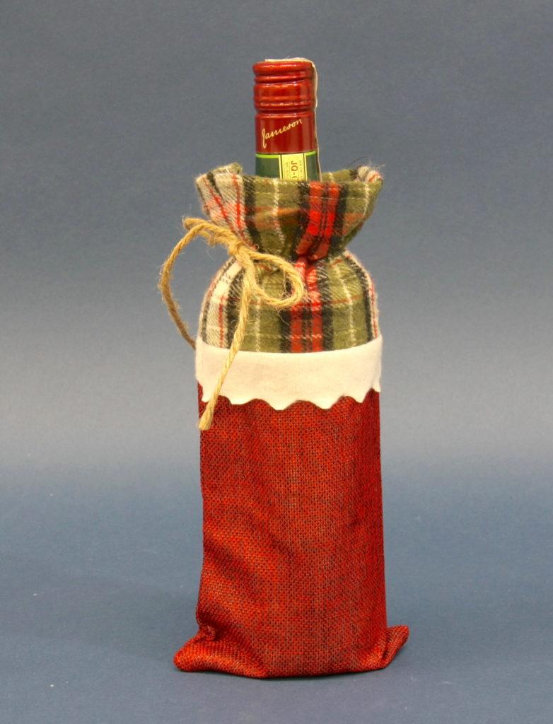 Ozdoba ubranie świąteczna na butelkę