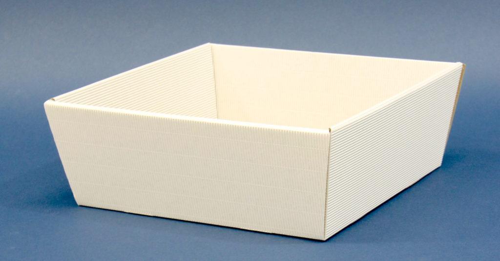kosz prezentowy biały 19x19cm