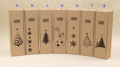 Świąteczne pudełka z logo firmy