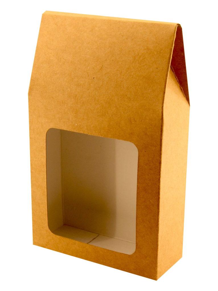 Pudełko z okienkiem na herbatę bok