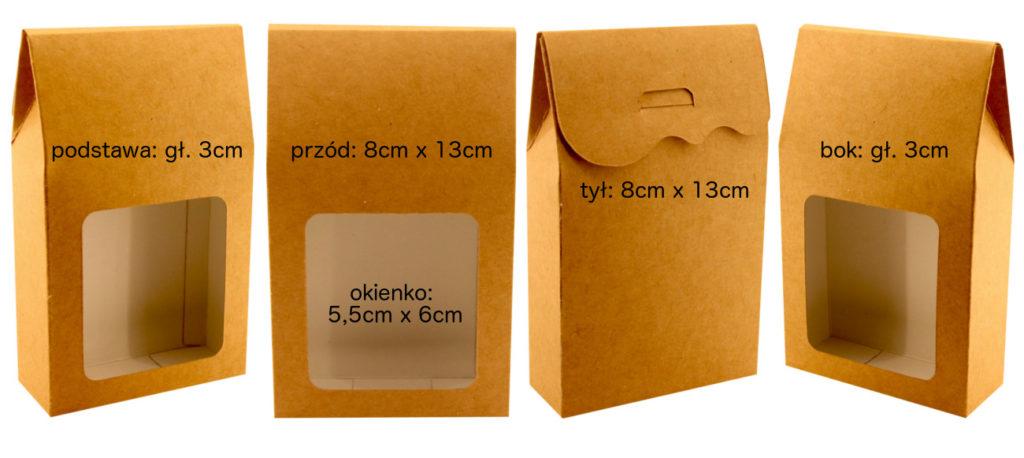 Pudełko z okienkiem na herbatę 8x13x3x3cm