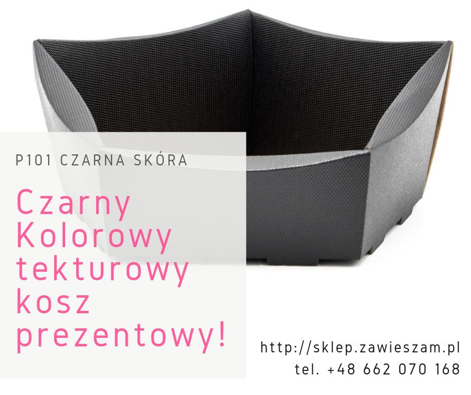 czarny kolorowy kosz prezentowy polski producent