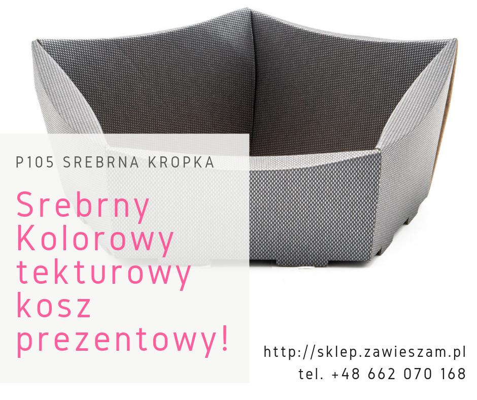 srebrny kolorowy kosz prezentowy polski producent
