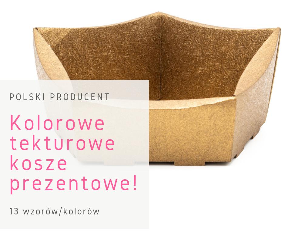 złoty kolorowy kosz prezentowy polski producent