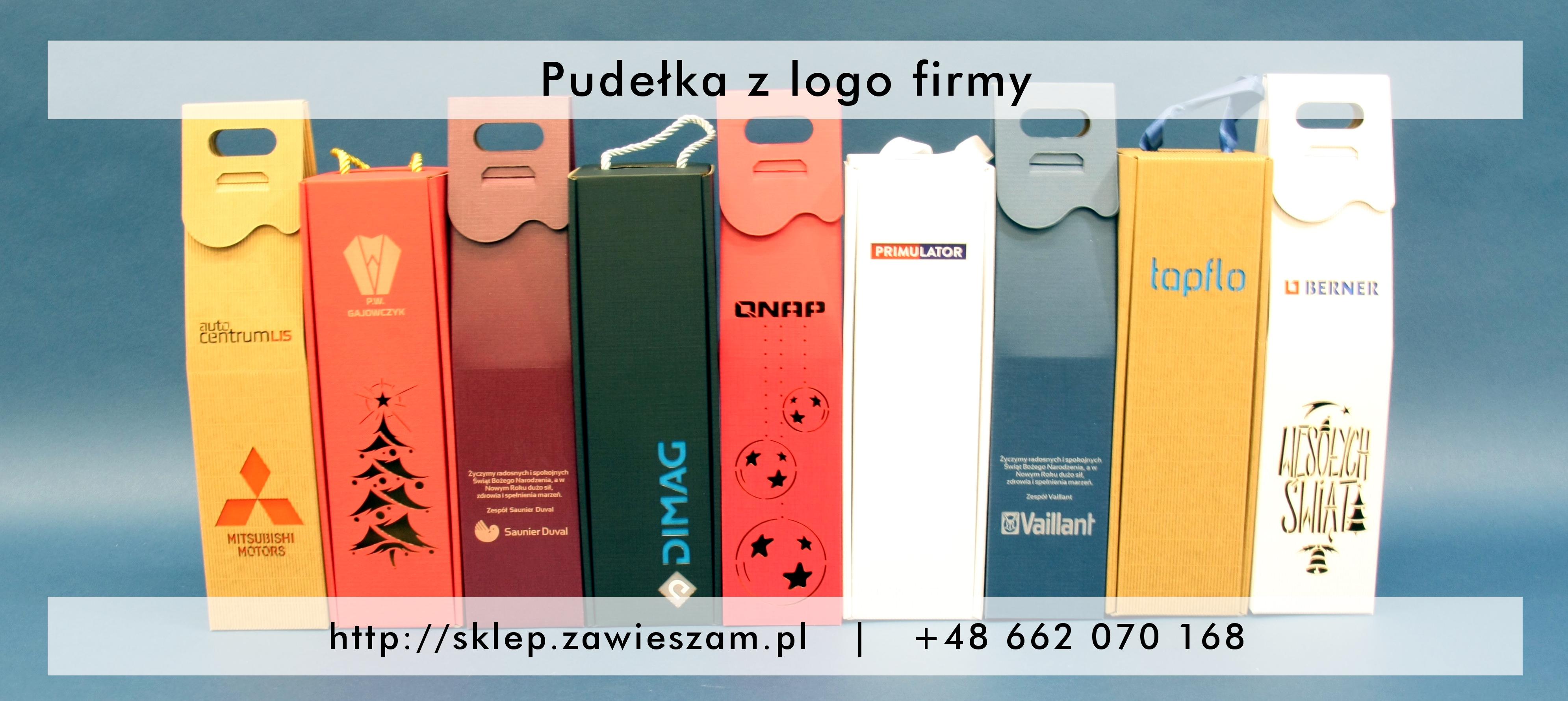 Pudełka ozdobne z logo firmy