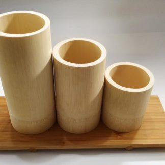 Świecznik bambusowy na podgrzewacze