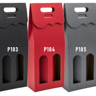Kolorowe kartonowe pudełko na 2 wina W10