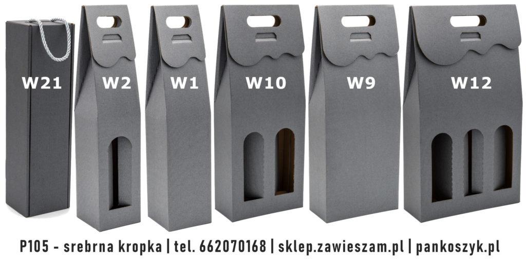 kolorowe srebrne ozdobne opakowanie na wino
