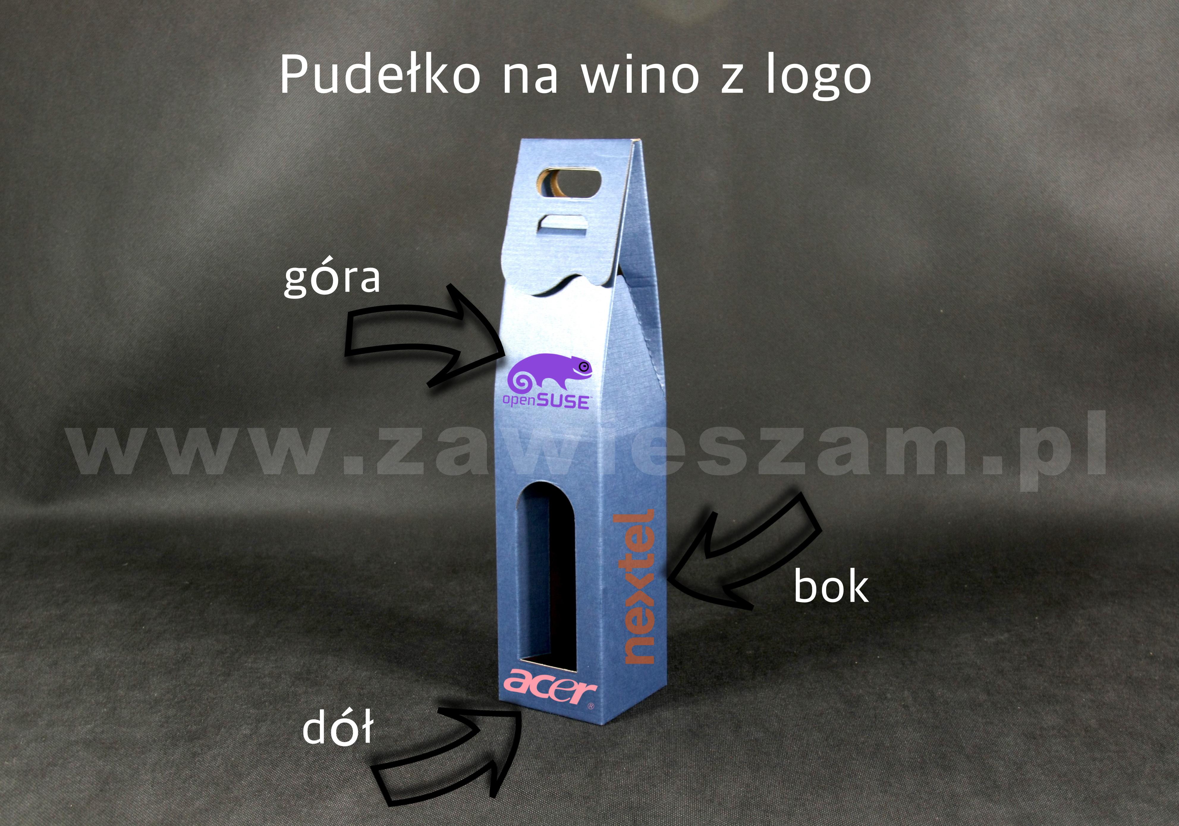 pudełko kaszerowane na wino