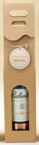 kartonik na wino z logo zawieszka