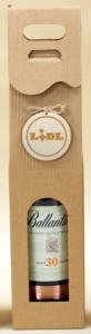 pudełko na wino z logo na sklejce