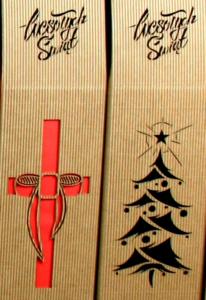 świąteczne pudełko do wina