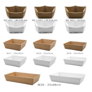 koszyk na prezenty eco biały
