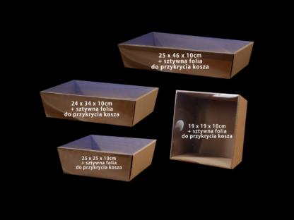 koszyk prezentowy + folia