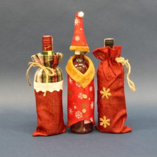 Ozdobne ubranie świąteczne na butelkę wina, piwa, wódki ...