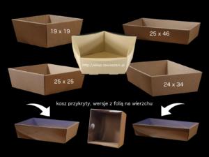 koszyk na prezenty + folia