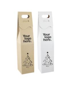 Pudełko do wina na Święta z grawerowanym logo