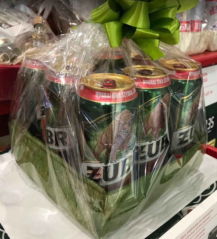 kosz prezentowy z piwem