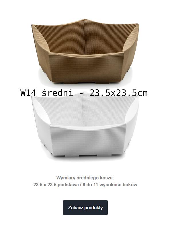 kosz prezentowy tekturowy W14