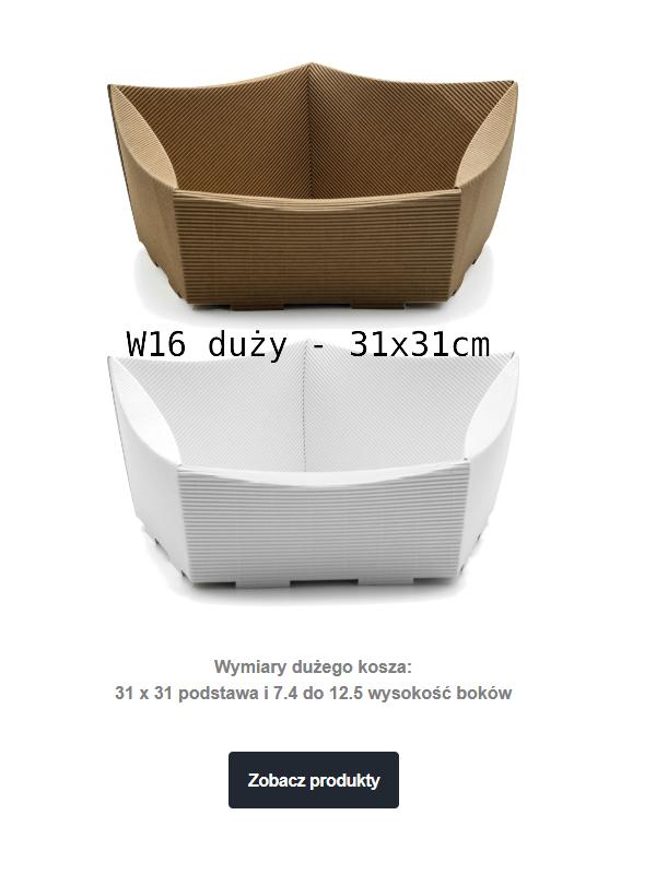 kosz prezentowy tekturowy W16