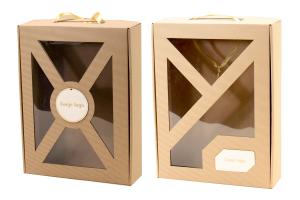 pudełko prezentowe duże z okienkiem W26