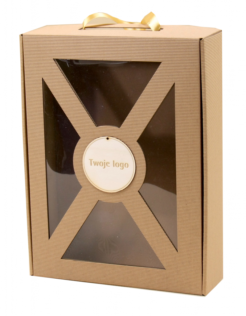 Pudełko prezentowe z okienkiem
