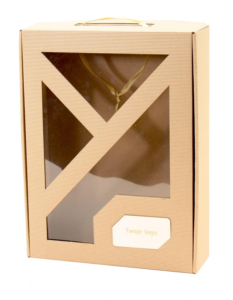 Pudełko prezentowe z okienkiem z logo