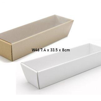 Pudełko, koszyk W46 + folia 7.4x33.5x8cm