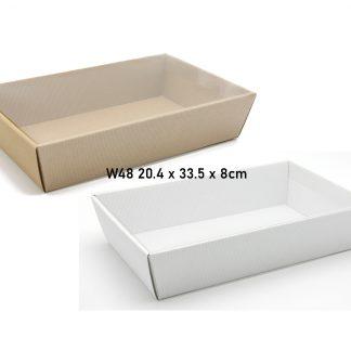 Pudełko, koszyk W48 + folia 20.4x33.5x8cm